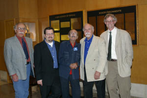 Blenko Designers (From left to right )- John Nickerson, Matt Carter, Winslow Anderson, Wayne Husted and Hank Adams